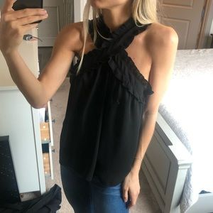 J crew reversible Black tank top blouse
